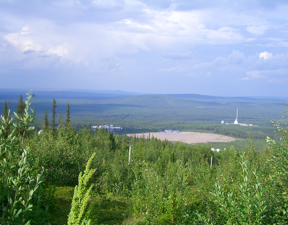 View of Esrange in summer