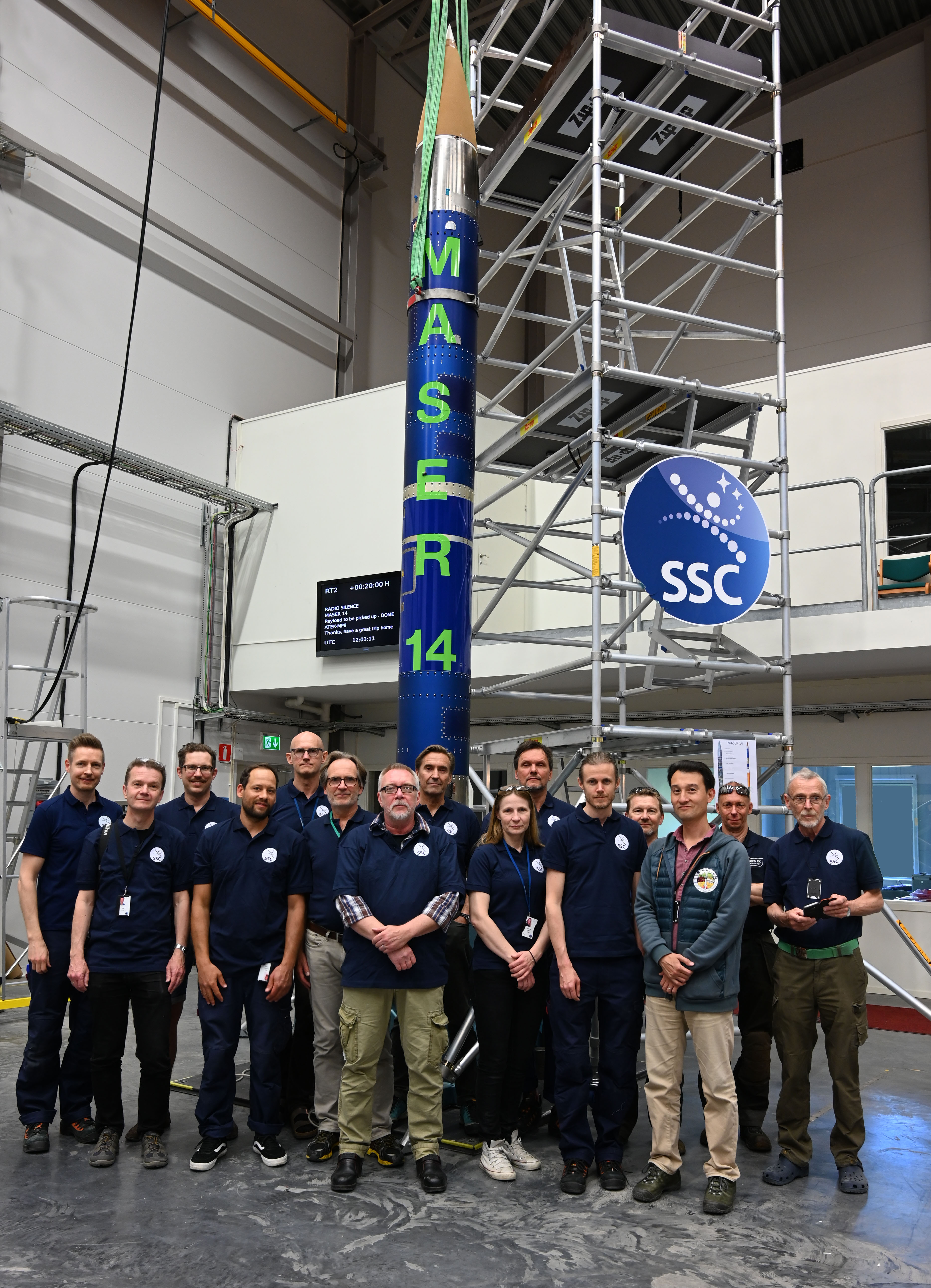SSC team in front of MASER 14 payload